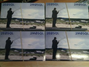 Front of the Dual 2M0SQL & 2E0SQL QSL Card